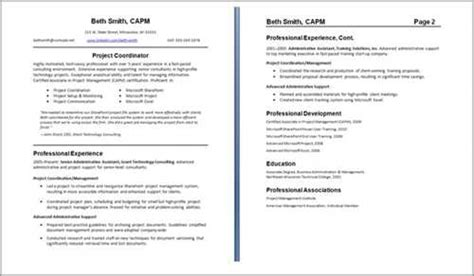 One Or Two Page Resume by A One Or Two Page Resume