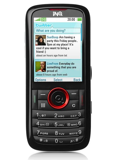 3g mobile inq mobile chat 3g and mini 3g social networking phones