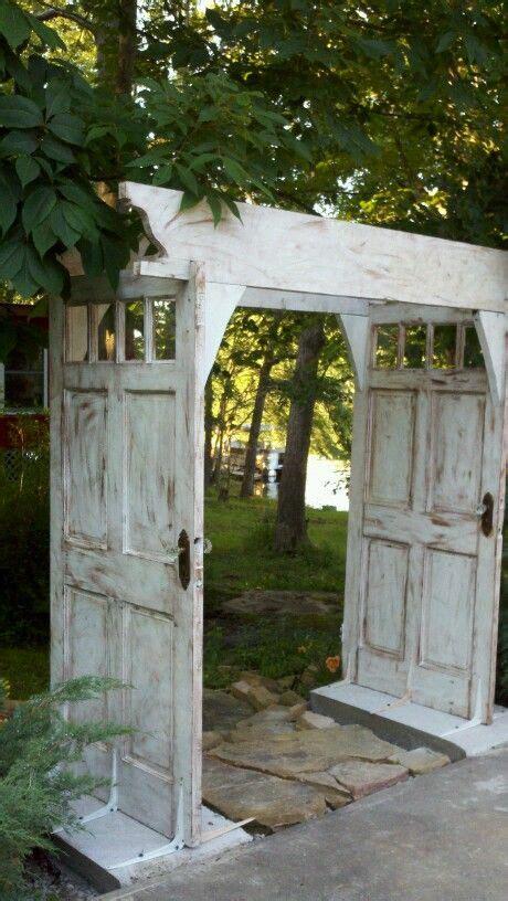 Garden Arbor With Door Arbor Made From Doors
