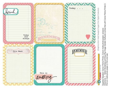 Project Journaling Card Template by 17 Beste Afbeeldingen Free Printable Project And