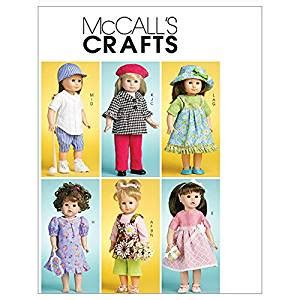 doll clothes pattern making software amazon com mccall s doll clothes for 18 46cm doll