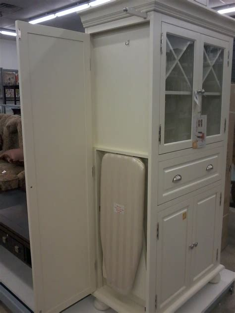 Premade Laundry Room Cabinets Other Side Ironing Board Ironing Board Cabinet Pinterest Cabinets Laundry Rooms