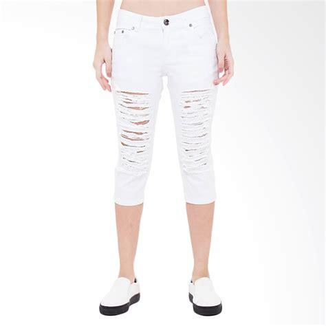 Darked Ripped Wd Celana Wanita jual s denim nikeisha ripped 7 8 slim fit celana wanita putih harga kualitas