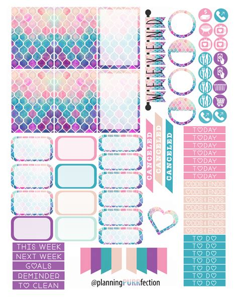 free printable planner stickers pinterest free watercolor planner stickers for hp manualidades
