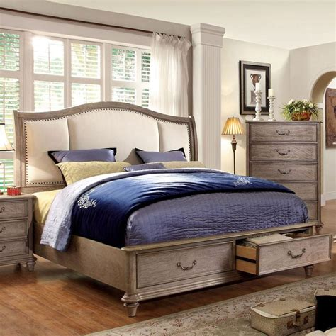 Weathered Bedroom Set by Norco Transitional Style Rustic Weathered Oak Finish 6