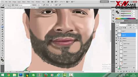 how to make doodle with photoshop photoshop tutorial drawing portrait hamza filali
