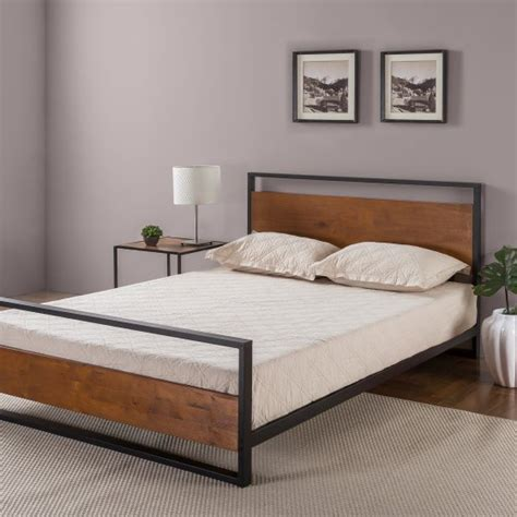 zinus ironline headboard footboard bed frame via 227 85 free shipping