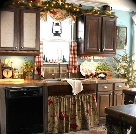 small country kitchen decorating ideas 40 cozy christmas kitchen d 233 cor ideas digsdigs
