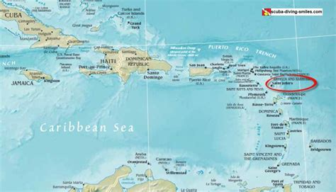 antigua map antigua diving our dives review info on flights resorts water temperature