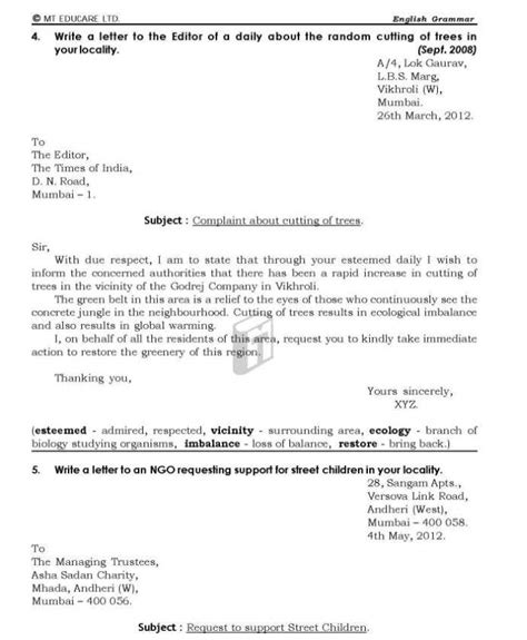 Business Letter Writing In Bank Exams Format Of Formal Letter For Bank Compudocs Us