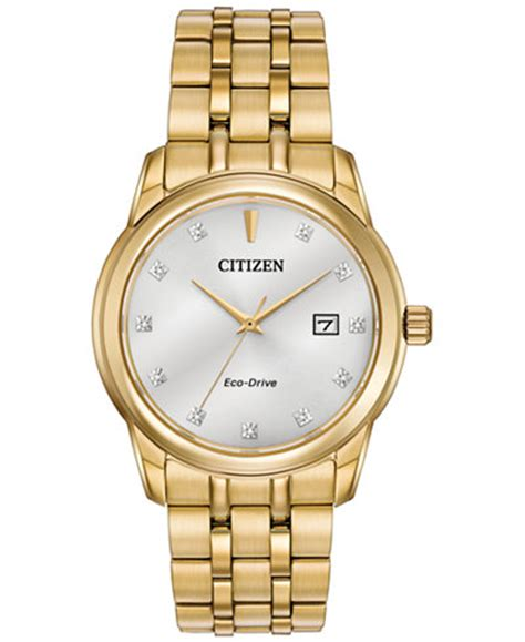 Citizen Gold citizen s eco drive accent gold tone stainless