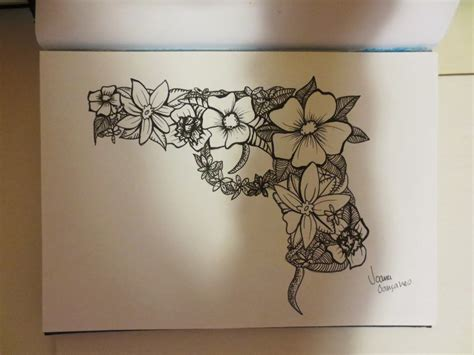 tattoo flower gun flower gun by joanag0712 on deviantart