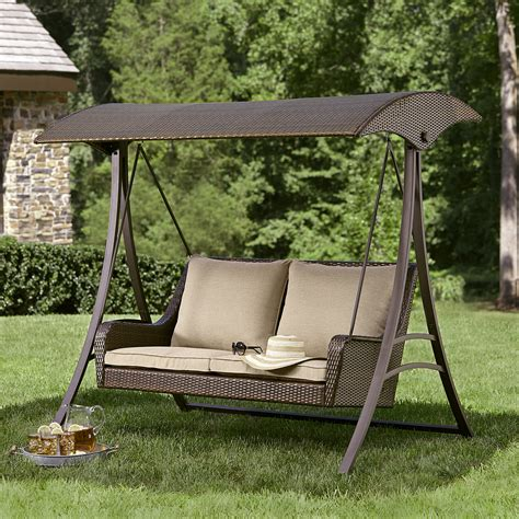 patio swing ty pennington style parkside resin wicker swing limited