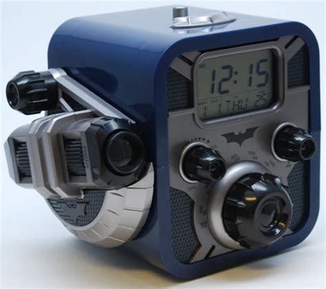 The Batman Clock Gives You Cool Credentials by Batman Alarm Clock Radio With Bat Signal