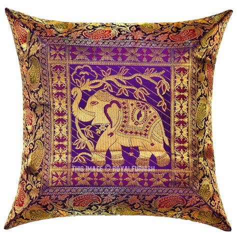 Unique Decorative Pillows Purple Thai Elephant Featuring Unique Handcrafted