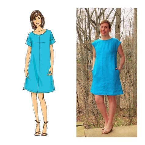 embonpoint vintage pattern review butterick 6182 misses top dress and skirt