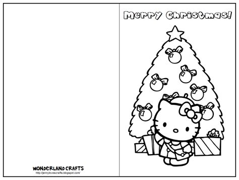 printable christmas cards for kids to color hello kitty birthday card printable free coloring home