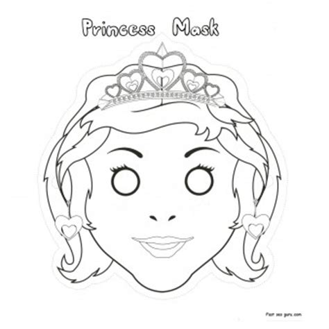 princess mask coloring pages printable cut out princess mask coloring in mask