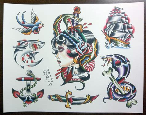 tattoo flash art sheets traditional tattoo flash sheet