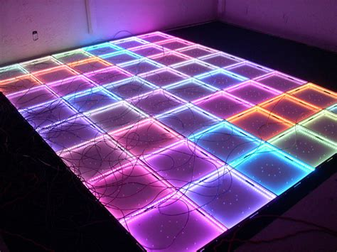 led floor rgb color changing led techno floor using 24 channel dmx driver