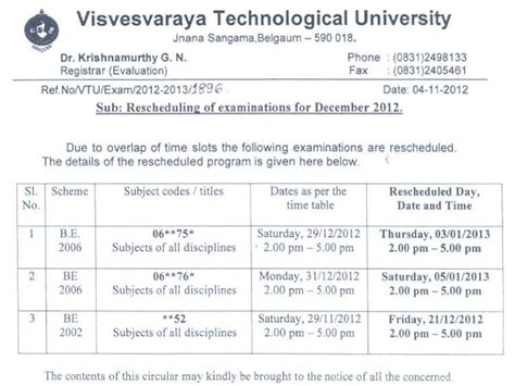 Vtu Mba 1st Sem Notes Pdf by Vtu Time Table 1st 2nd 3rd 4th 5th 6th 7th 8th Sem
