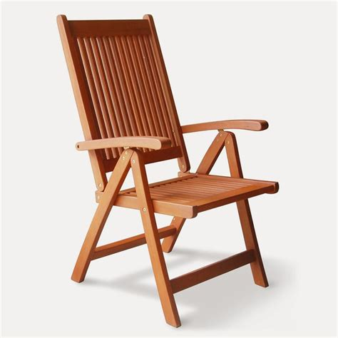 Folding Patio Chair Shop Vifah Vista Eucalyptus Folding Patio Dining Chair At Lowes