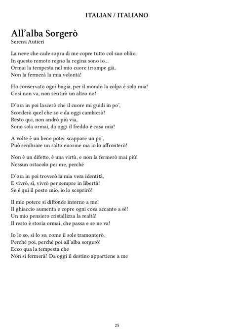 testo let it go italiano frozen quot let it go quot lyrics in 42 languages