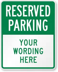 Reserved Parking Template by Large No Parking Signs Custom Stock Templates