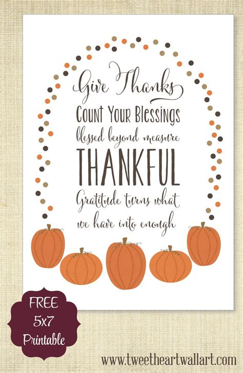give thanksgiving printable