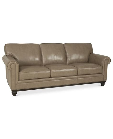 leather sofa macys martha stewart collection bradyn leather sofa