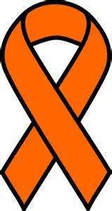 kidney cancer color clipart orange kidney cancer and leukemia ribbon