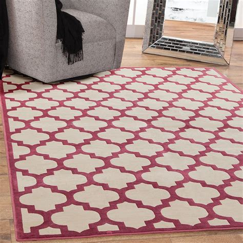 sams international rugs sams international sonoma trellis cranberry 5 ft 3 in x 7 ft 6 in area rug 7051 5x8 the