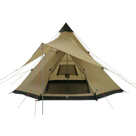 pyramid awning 10t shoshone 500 10 person teepee tent pyramid tent