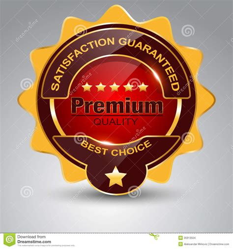 icon design quality premium quality badge stock images image 35913504