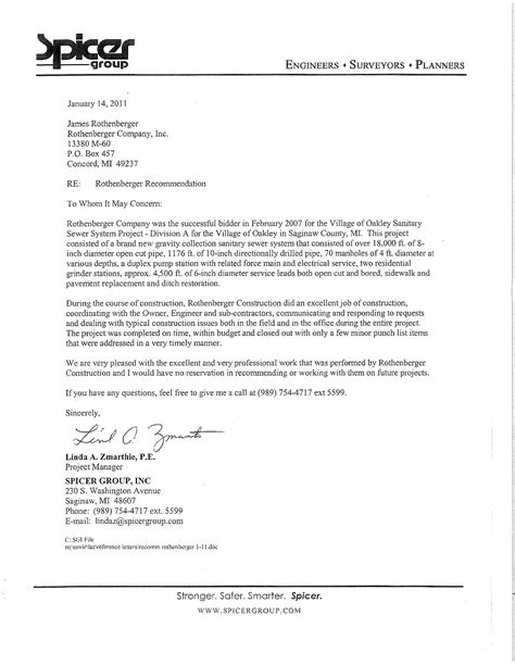 Reference Letter Exle From A Manager Rothenberger Companies Reference Letters