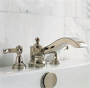 restoration hardware kitchen faucet caign lever handle deck mount tub fill