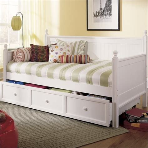 White Wooden Daybed Wood Daybed In White B5xc43