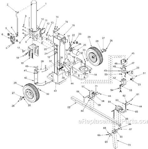 huskee log splitter parts diagram mtd 24af510b300 parts list and diagram 2002