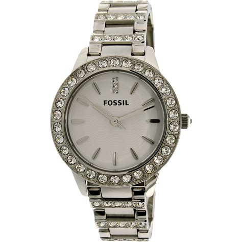 Fossil Silver Stainless Steel fossil s es2362 silver stainless steel quartz fashion 691464420147 ebay