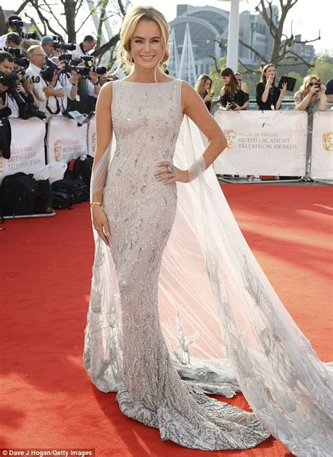 Dress Amanda amanda holden looks spectacular in a embellished white
