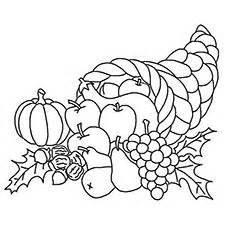 cornucopia basket coloring page cornucopia fall coloring sheet coloring pages