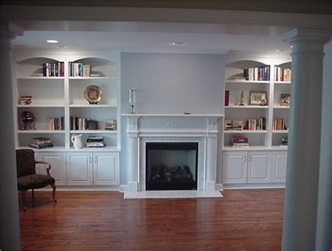 Custom Living Room Cabinets | custom wall units traditional living room new york