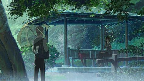 rain the garden of words makoto shinkai wallpapers hd