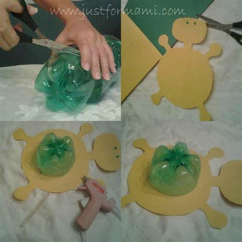 maquetas de tortugas con botella manualidad tortuga hecha con botella de soda just for mami