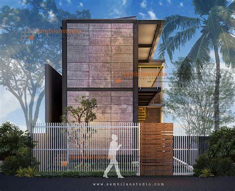 ars inspirasi desain rumah kos  lahan memanjang konsep industrial sembilanstudio