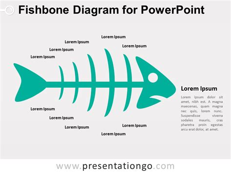 Fishbone Diagram For Powerpoint Presentationgo Com Fishbone Template Powerpoint