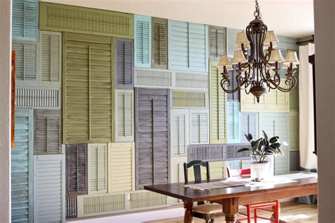 Shutter Blinds For Windows Decor Upcycled Window Shutters Diy Inspiration Tutorials