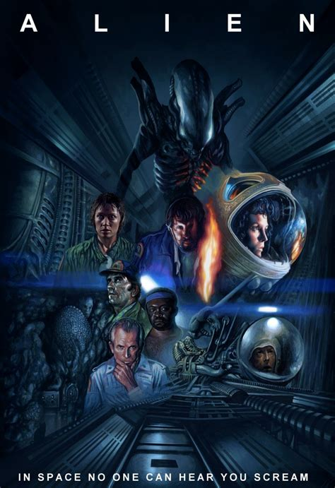 the movie art of alien poster by harnois75 on