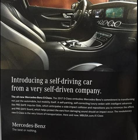 car ads 2017 mercedes benz withdraws self driving car ad caign of