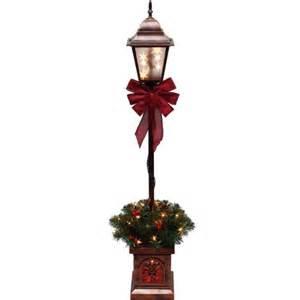 holiday time pre lit 4 christmas lamp post tree clear lights walmart com